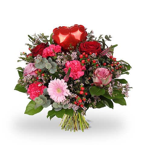 Boeket Love hart rood standaard