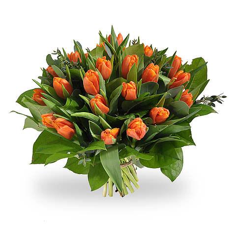 Boeket oranje tulpen groot