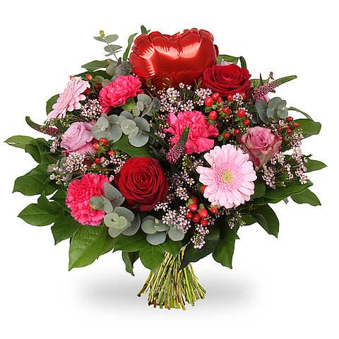 Boeket Love hart rood groot