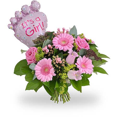 Its a girl bouquet + balloon standard