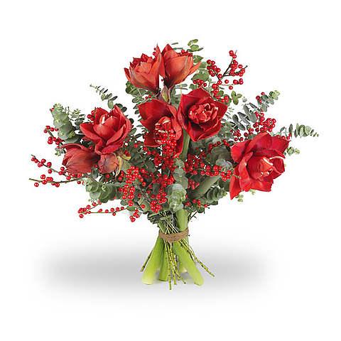 Boeket Amaryllis rood standaard