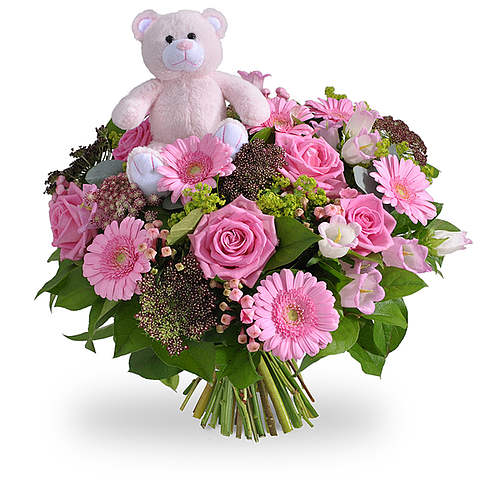 Girl bouquet with a teddy XL