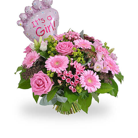 Its a Girl bouquet + balloon large