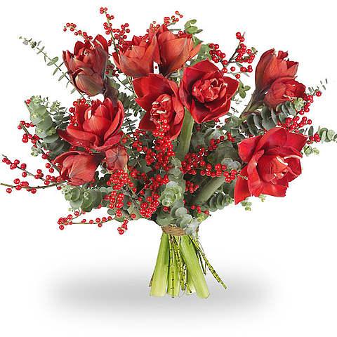 Boeket Amaryllis rood XL
