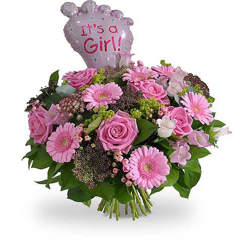 Its a Girl bouquet & balloon XL