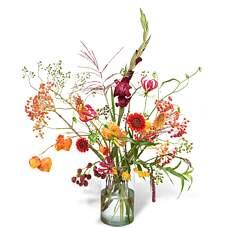 Bouquet Luna with vase