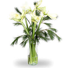 Bouquet Alexa Wit with vase
