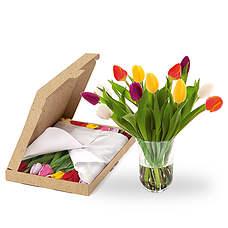 Gemengde tulpen brievenbus
