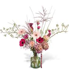Bouquet Pascalle with vase