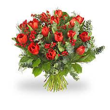 Kerst rode tulpen