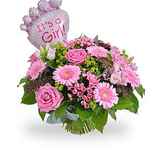 Its a girl bouquet with balloon