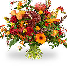 luxurious orange bouquet