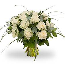 Bouquet Rosa White