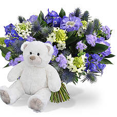 Boy bouquet with teddy 45cm