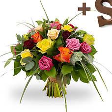Mix rozen met Chocoladeletter