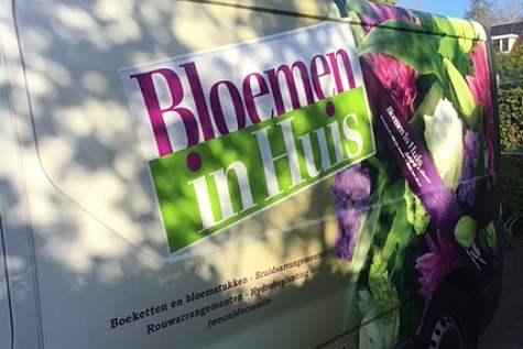 Winkelpand Bloemen in Huis