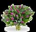 Boeket paarse tulpen groot