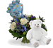 Bouquet Its a boy balloon standard + White teddy standard
