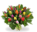 Bouquet mixed coloured tulips large
