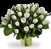Boeket witte tulpen XL