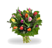 Bouquet mixed coloured tulips standard