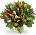 Bouquet mixed coloured tulips XL