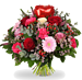 Boeket Love hart rood XL