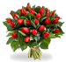Bouquet red tulips XL