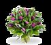 Boeket paarse tulpen standaard
