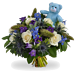 Boy bouquet XL + teddy