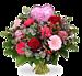 Boeket Love hart roze groot