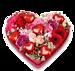 Bloemenhart Love groot