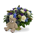 Boy bouquet large + brown teddy
