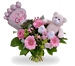 Bouquet Its a girl balloon + teddy standaard
