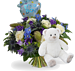 Bouquet Its a boy balloon standard + White teddy XL