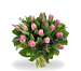 Boeket roze tulpen standaard