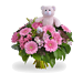 Girl bouquet large with teddybear