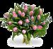 Boeket roze tulpen groot