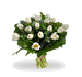 Boeket witte tulpen standaard