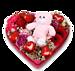 Bloemenhart Lovely bear groot