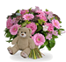 Girl bouquet XL + brown teddy