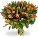 Boeket oranje tulpen XL