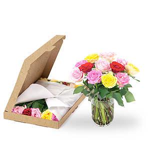 Gemengde rozen brievenbus