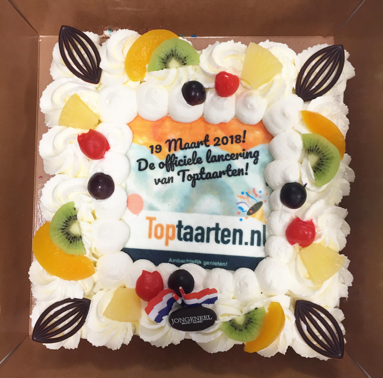 Taart lancering Toptaarten.nl